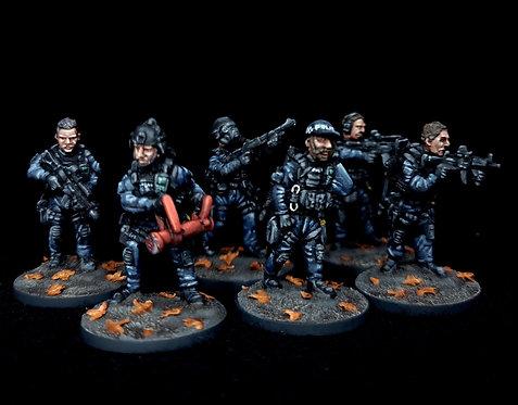 Police Group Alpha  (10)(Metal Cast)