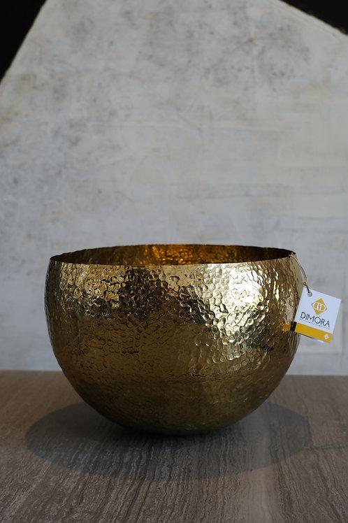 Bowl hammered brass bowl