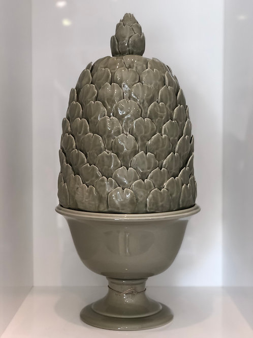 Artichoke lidded urn putty