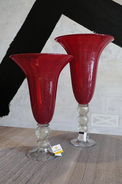Ball stem hurricane ruby swirl