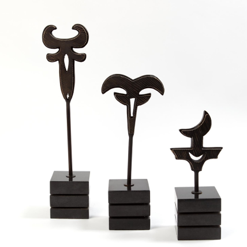 Polynesian Symbol Sculpture- Bronze