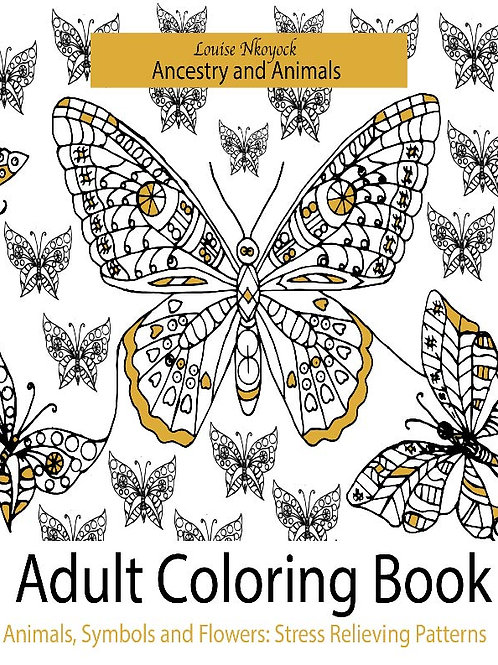 Ancestry and Animals: Adult Coloring Book - Animals, Symbols and Flowers