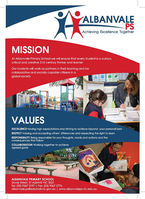 Albanvale PS-Mission, Vision and Values