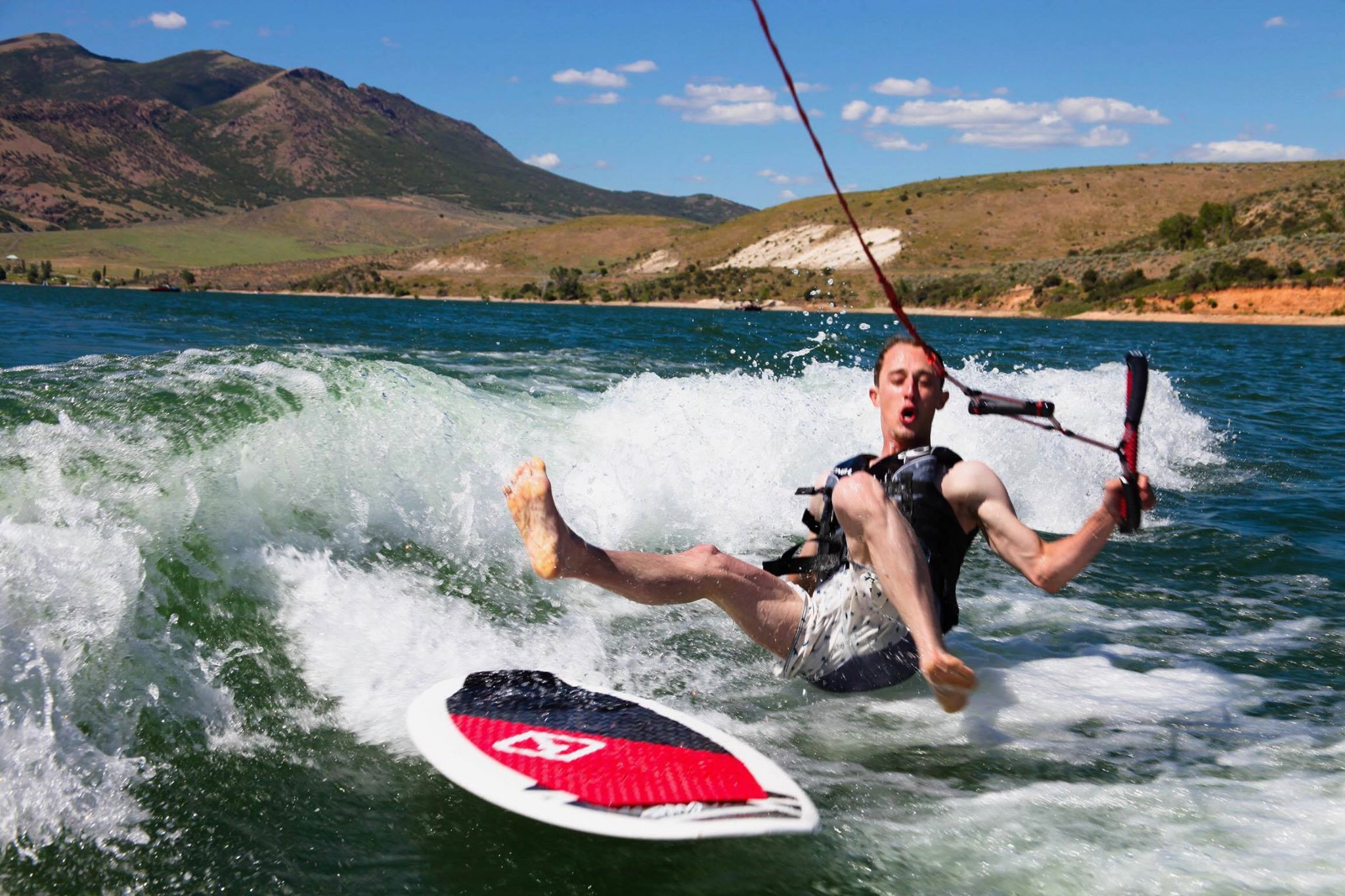 Wipeouts can happen when surfing behind a rented boat