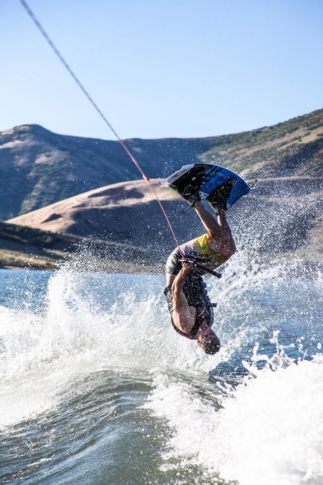 Make sure to get more air on your backflip when wakeboarding behind our surf boat rental