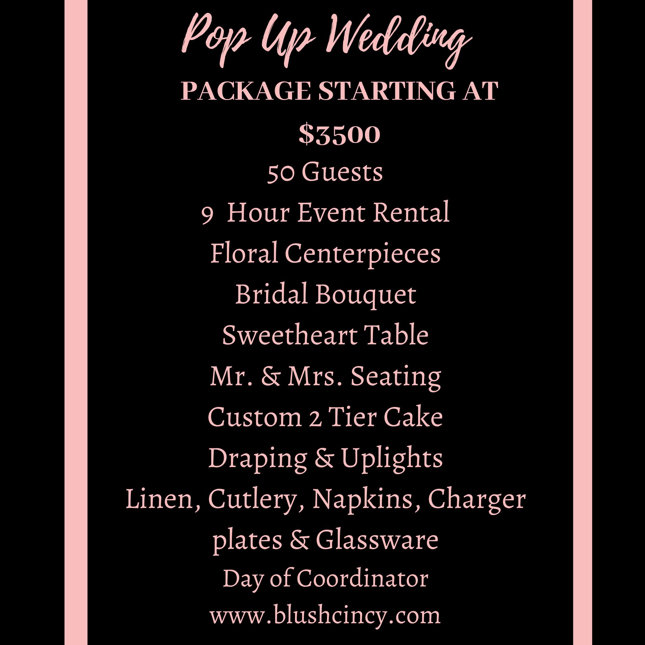 Pop - Up Wedding