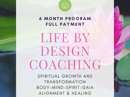 LIFE BY DESIGN COACHING - Full payment