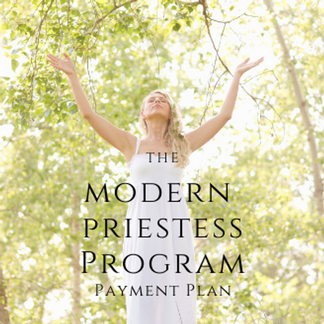 MODERN  PRIESTESS PROGRAM PAYMENT PLAN