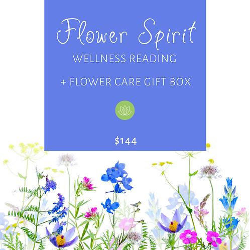 FLOWER SPIRIT WELLNESS READING + FLOWER CAREGIFT BOX