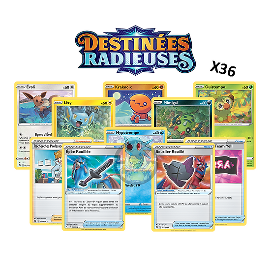 LOT: x36 cartes Pokémon FR [EB4.5 DESTINÉES RADIEUSES]