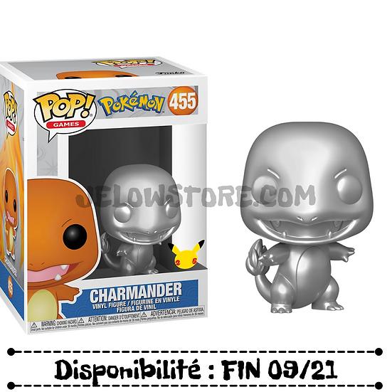 Funko pop [Pokémon] Silver Metallic Charmander 25th anniversary - #455