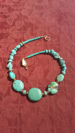 Magpie turquoise necklace