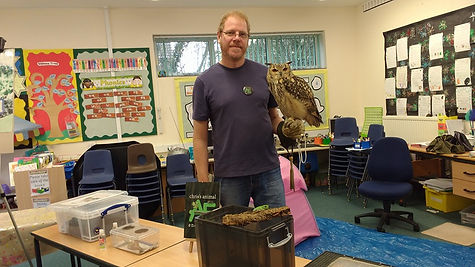 Chris Welbourn and Bengal Eagle Owl