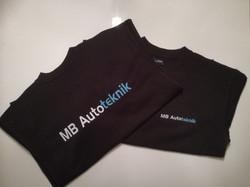 MB Autoteknik t-shirts med logo