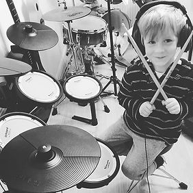 Blake checking out the new drum kit 🥁__