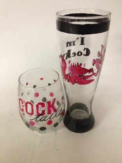 Wine and Beer Glass Painting
