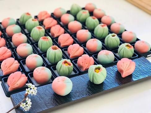 A selection of our seasonal wagashi