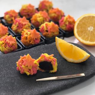 Choco-orange nerikiri