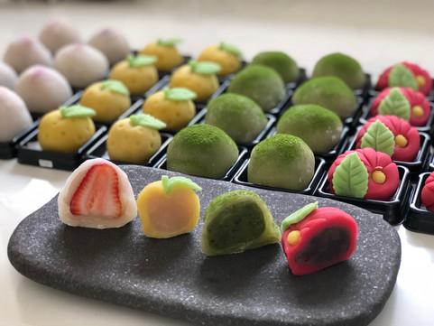 Selection of our daifuku and nerikiri