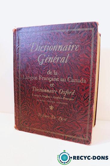 Dictionnaire général de la langue française au Canada et dictionnaire Oxford