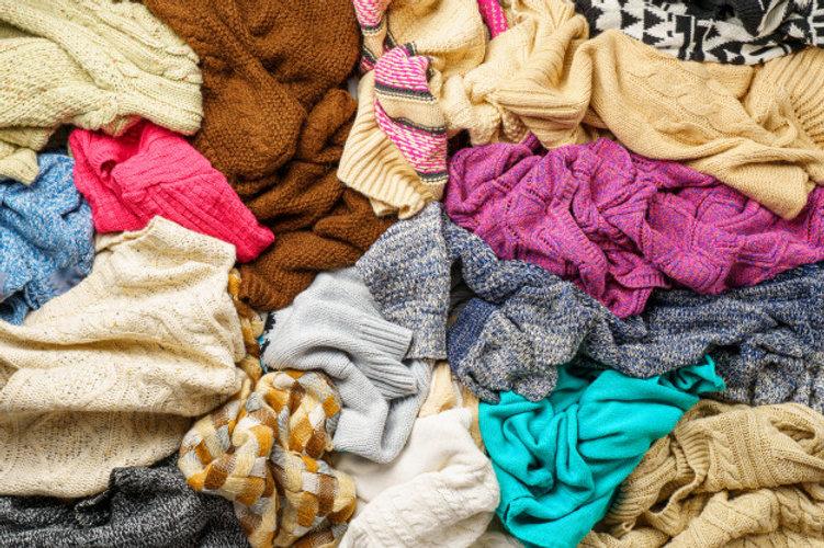 Recyc-Dons, pile de vêtements