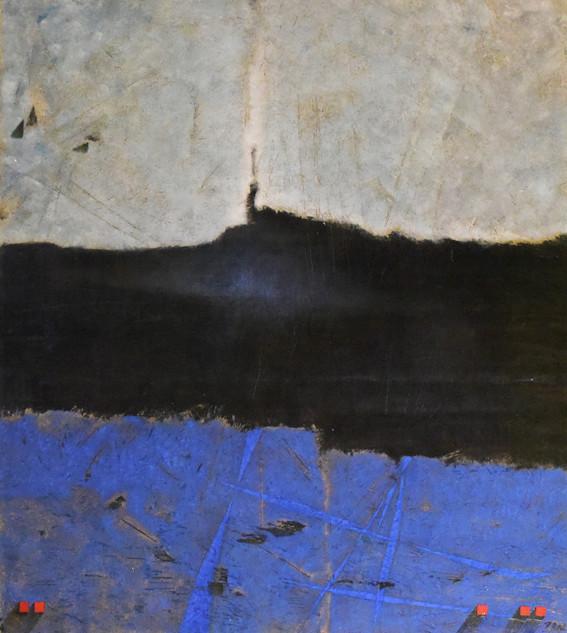 _Profondeur noire et bleue_ - 170 x 150