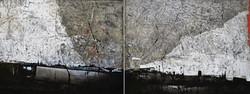 """Horizon gris"" , 120 x 300 cm"