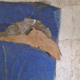 _Grande bleue & ocre _ 180 x 158 cm _ te