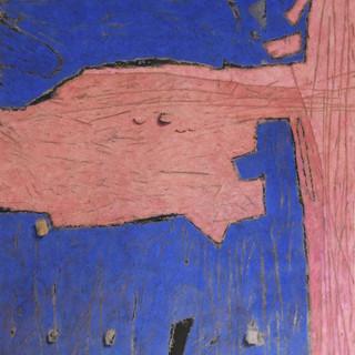 _Bleue & rose_ _ 180 x 158 cm _ terre et
