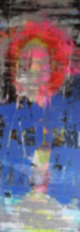 """Soleil rouge"" / série kakemono / 200 x"