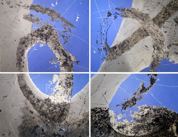 """Libre"" / quadriptique 200 x 240 cm / te"