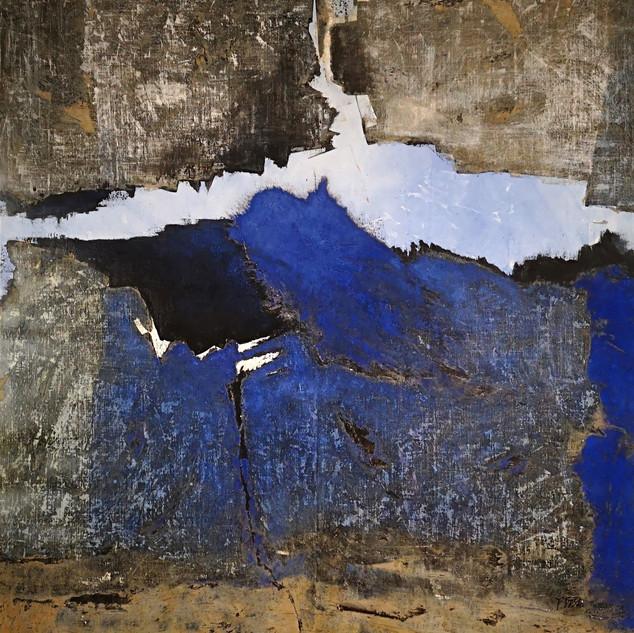 _Faille bleue_ _ 150 x 148 cm _ terre &