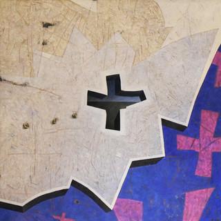 _Les croix_ _ 180 x 180 cm _ terre et pi