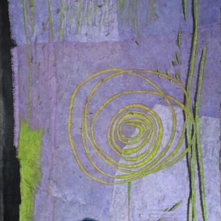 _Mauve et verte_ _ 180 x 145 cm _ terre