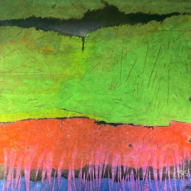 _ Prairie _ _ 150 x 150 cm _ terre et pi