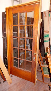 15 Lite Oak French Door With Frame
