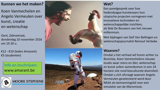 LECTURE: Koen Vanmechelen and Angelo Vermeulen on art, creation and science.