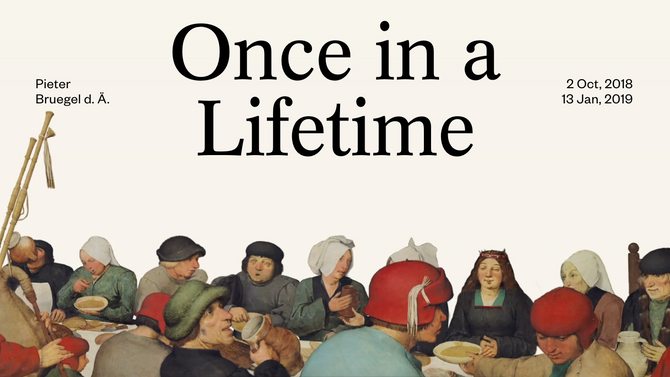 Art Salon, Pieter Bruegel the Elder: Once in a Lifetime, Vienna, 12 NOV
