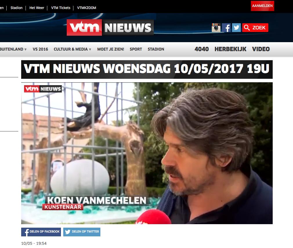 Venice Biennial 2017 at VTM Nieuws