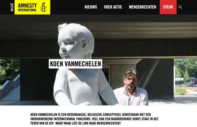 Koen Vanmechelen at Amnesty International's festival; ALL RIGHTS! Let's talk about the futur