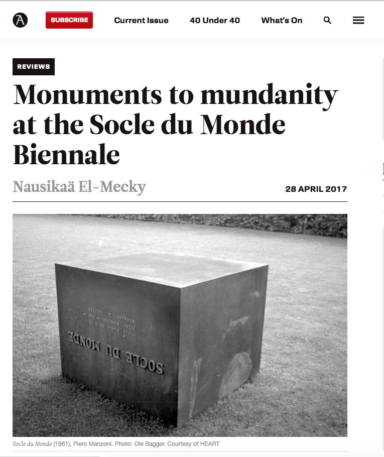 Socle Du Monde Biennale Denmark