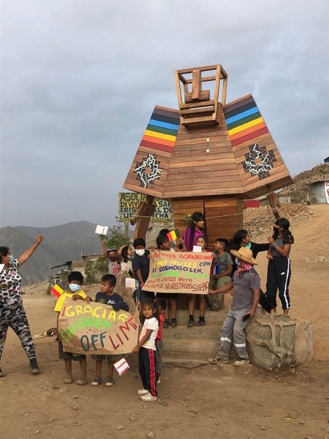Our CosmoGolem lands in Peru