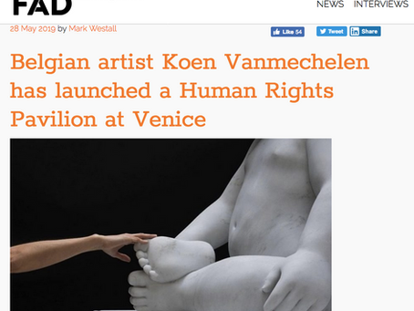 BELGIAN ARTIST LAUNCHES HUMAN RIGHTS PAVILION IN VENICE