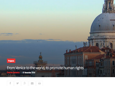 From Venice to the world, to promote human rights, VITA international