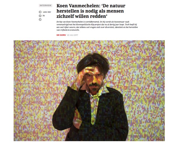 Elaborate interview in MO* on art, nature and human rights