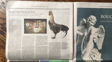 "New York Times, October 30: ""Playing Chicken With the Art World"""