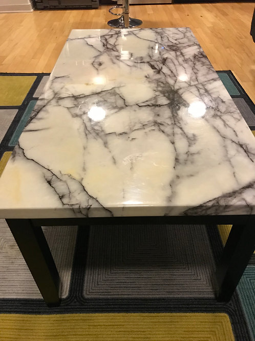 3 piece marble coffee table set