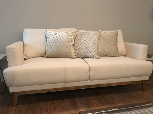 Scott Living Margot Mid-Century Modern Beige Sofa