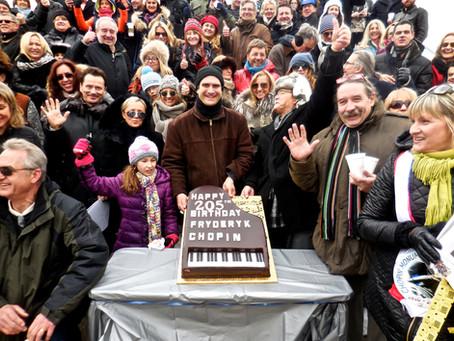 205 Urodziny Chopina i przyjecie w Ogrodzie Chopina w Grant Park Chicago