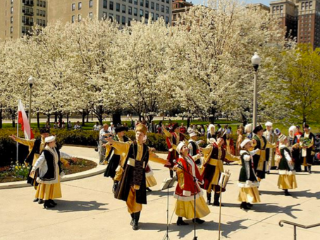 The Polonia Ensemble performed a traditional dance, Polonaise, for an audience of 400